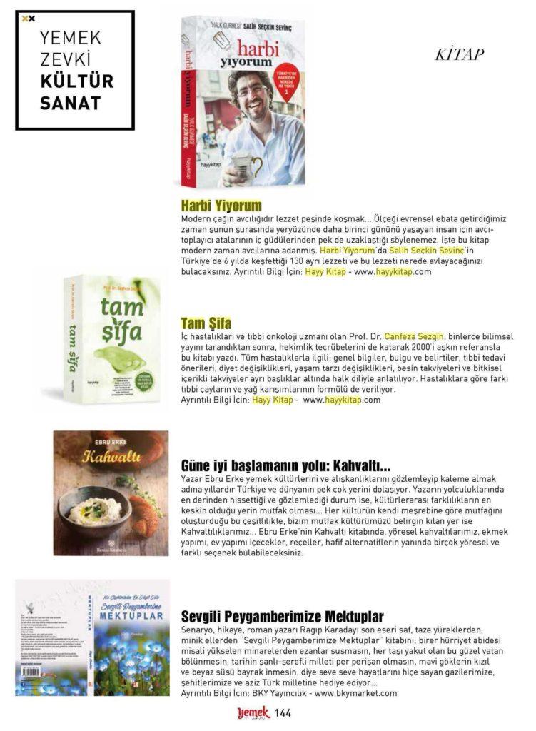 yemek zevki dergisi